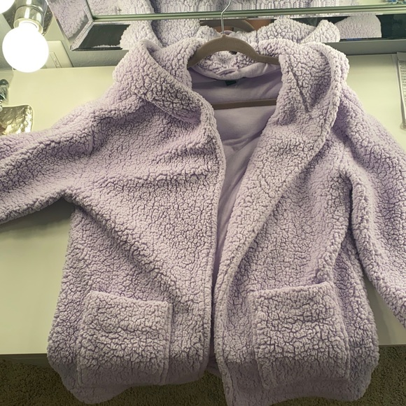 Forever 21 Hooded teddy jacket with pockets